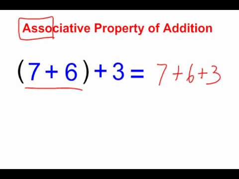 The Associative Property of Addition & Multiplication