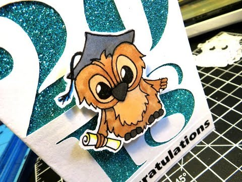 Class of 2018 Graduation Card featuring Brentwood Owl JessicaLynnOriginal