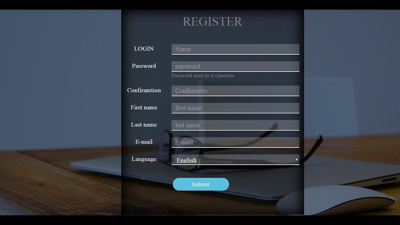 Create Bootstrap Registration Form - Bootstrap Registration Form -  Bootstrap Registration Form Code