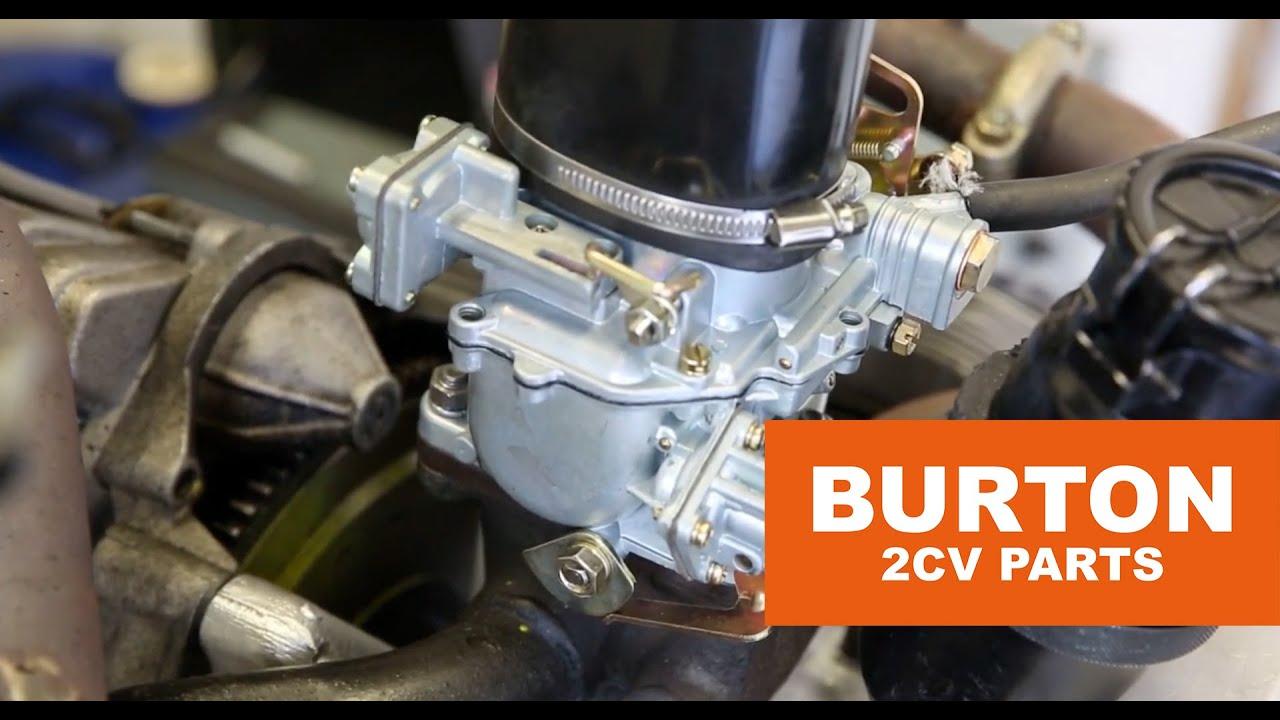 burton 2cv parts - testing carburettor - sous-titres en fran u00e7ais