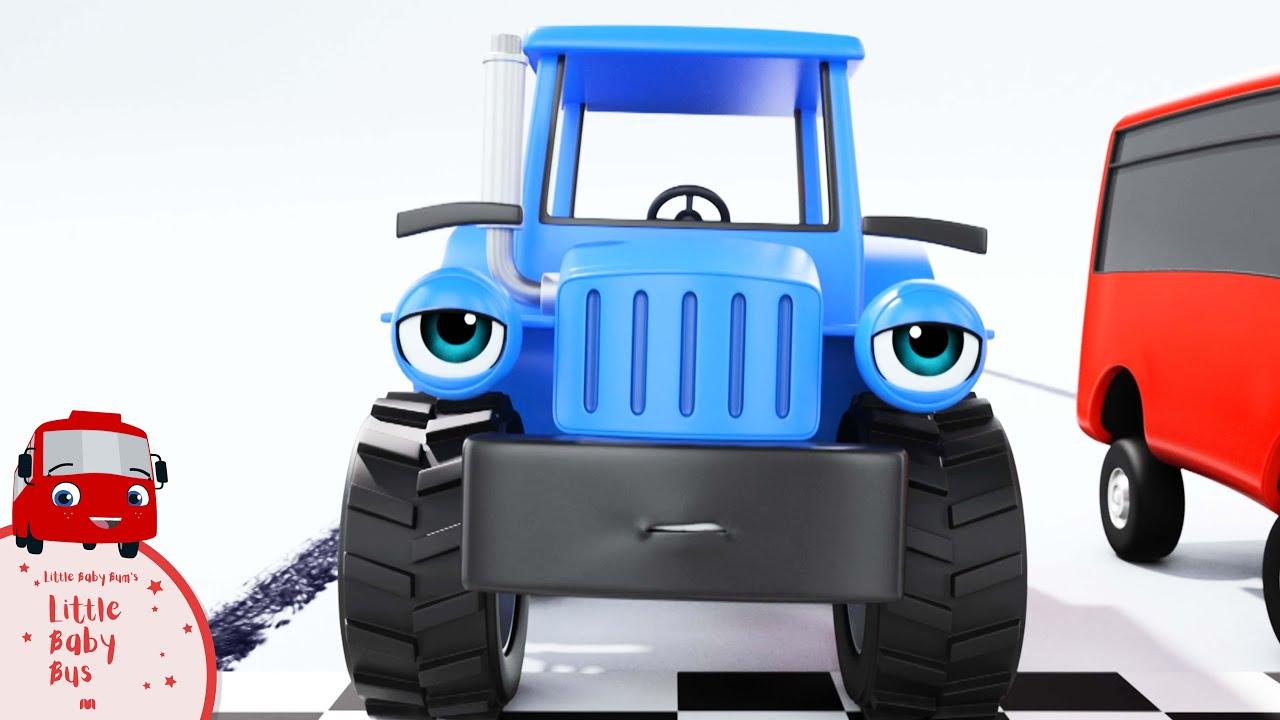 Buster corre una carrera   Nanas para bebés   Little Baby Bus Español - Little Baby Bum