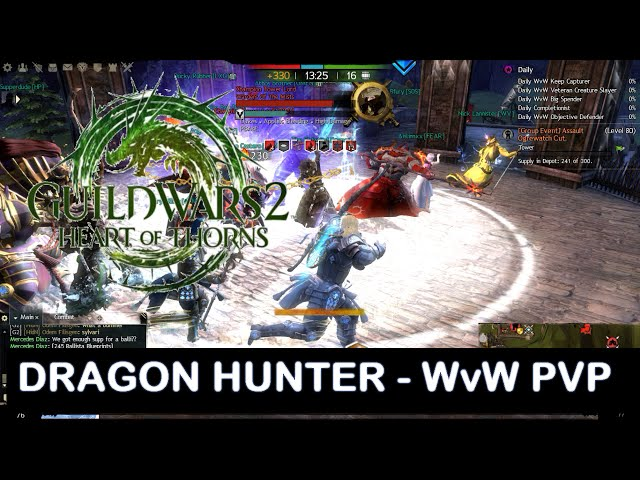 Guild Wars 2 - Heart Of Thorns -wvw Pvp Jogando De Dragon Hunter [pt-br]
