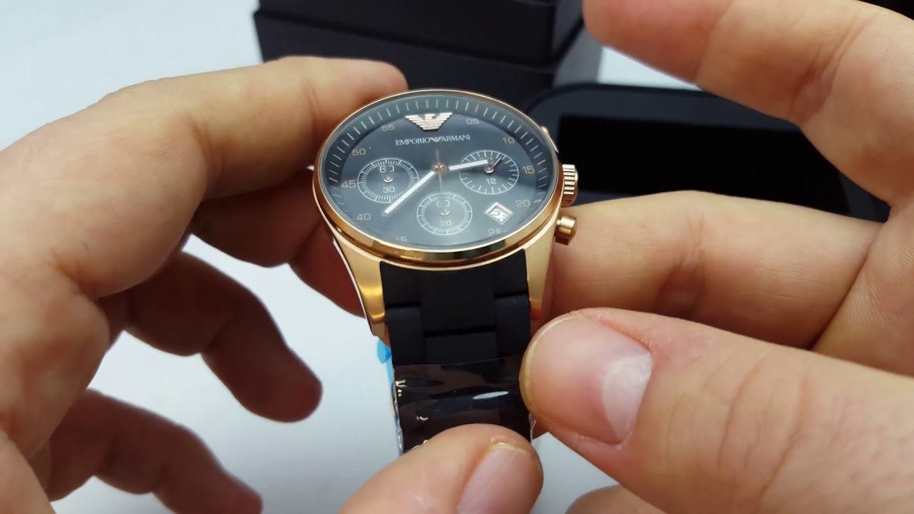0a1867df6f Take A Look At The Emporio Armani AR5906 Watch Chronos Watches UnBoxing  Video - YouTube