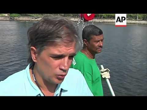Eco boats begin massive clear up operation ahead of 2016 Olympics