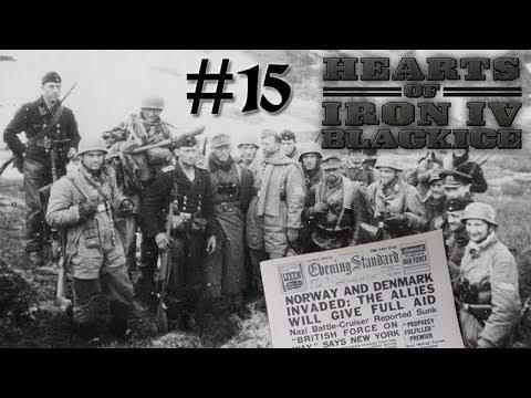Hearts of Iron IV DoD BlackICE - Germany 15 Norway Operation Weserübung