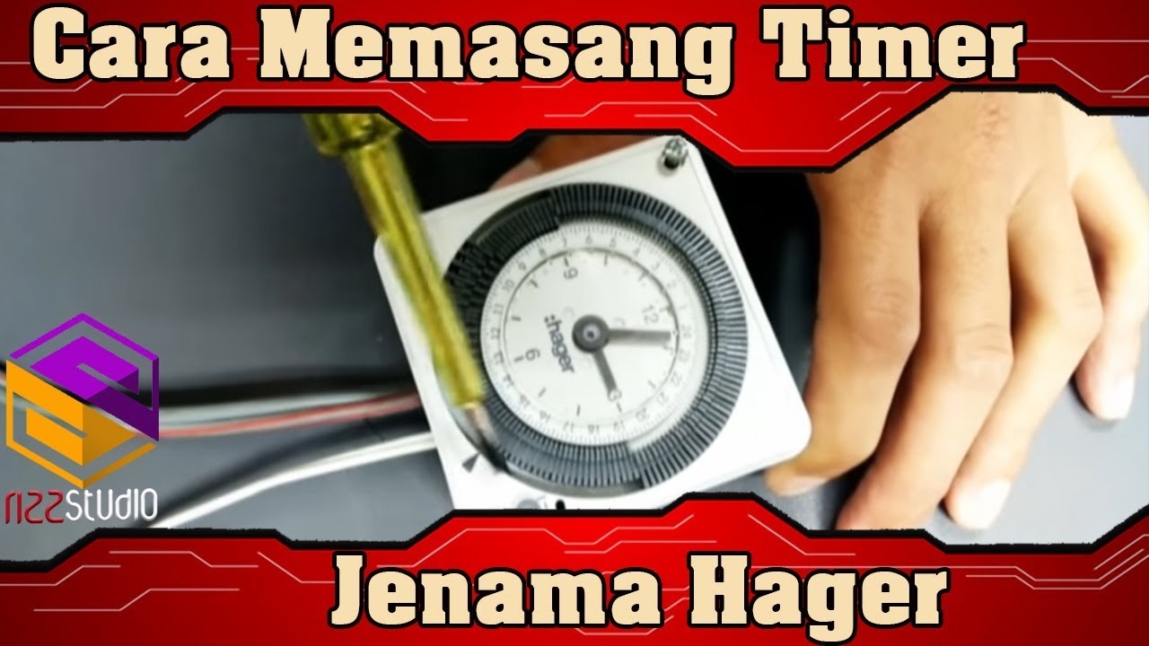 maxresdefault cara memasang timer jenama hager youtube hager eh 111 wiring diagram at edmiracle.co