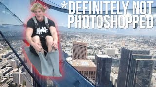 GLASS SLIDE 1,000 FEET IN THE SKY! *terrifying*
