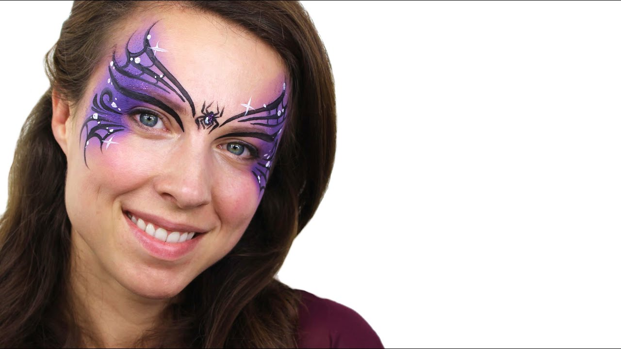 resting witch face paint tutorial | snazaroo - youtube