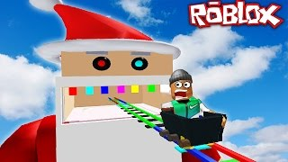 ESCAPING SANTA IN ROBLOX