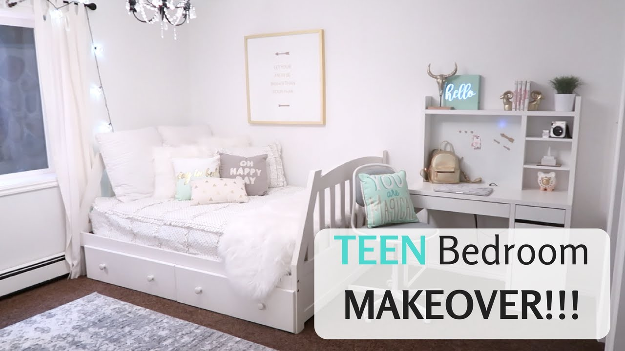 cute teen bedroom makeover reveal girls decor youtube rh youtube com