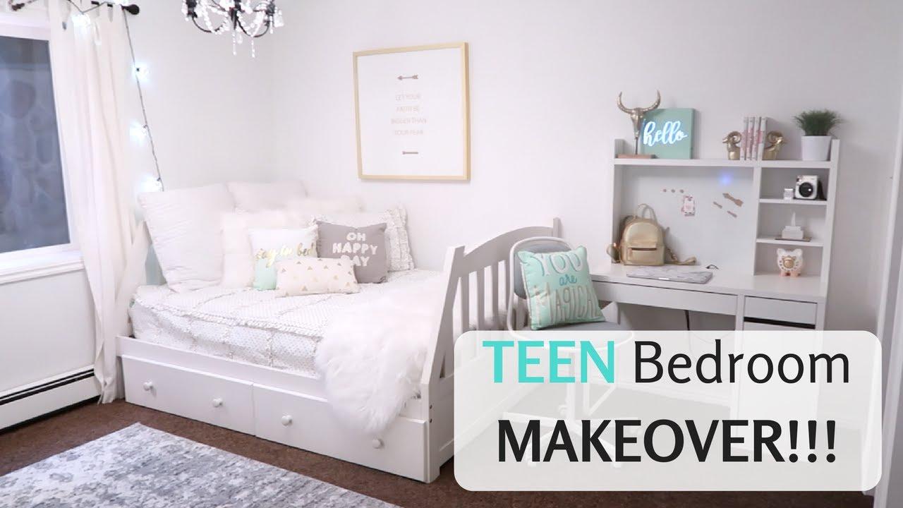CUTE TEEN BEDROOM  Makeover Reveal Girls Decor  YouTube