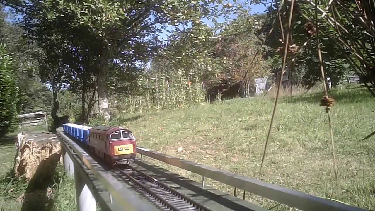 OO gauge garden railway freight Feeding the birds by train YouTube