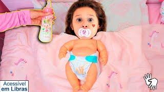 👋🏻 LIBRAS 👋 Valentina Pontes se transformou em um bebê ★شفا تحولت إلى بيبي !