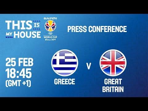 LIVE🔴 - Greece v Great Britain - Press Conf - FIBA Basketball World Cup 2019 - European Qualifiers