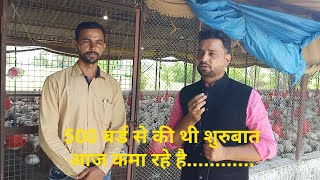 500 बर्ड से पोल्ट्री फार्म की शुरुबात#500 starting of poultry farm with 500 chickens