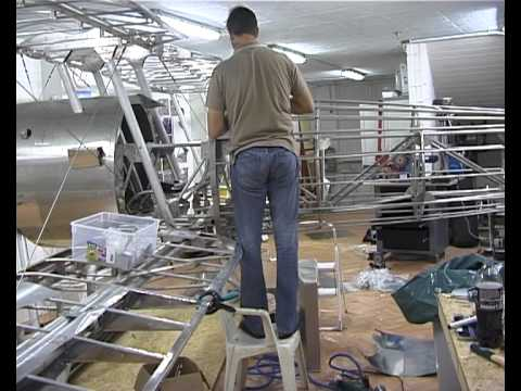 construction of a Nieuport 28 from Airdrome aeroplanes