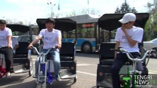 В Алматы появились велотакси