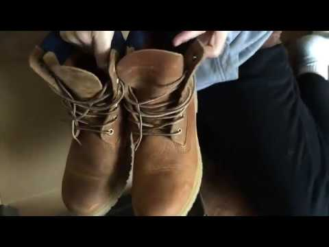 Unboxing Woman's 6 inch Premium Waterproof Boots Timberland Color Tan Distressed Nubuck