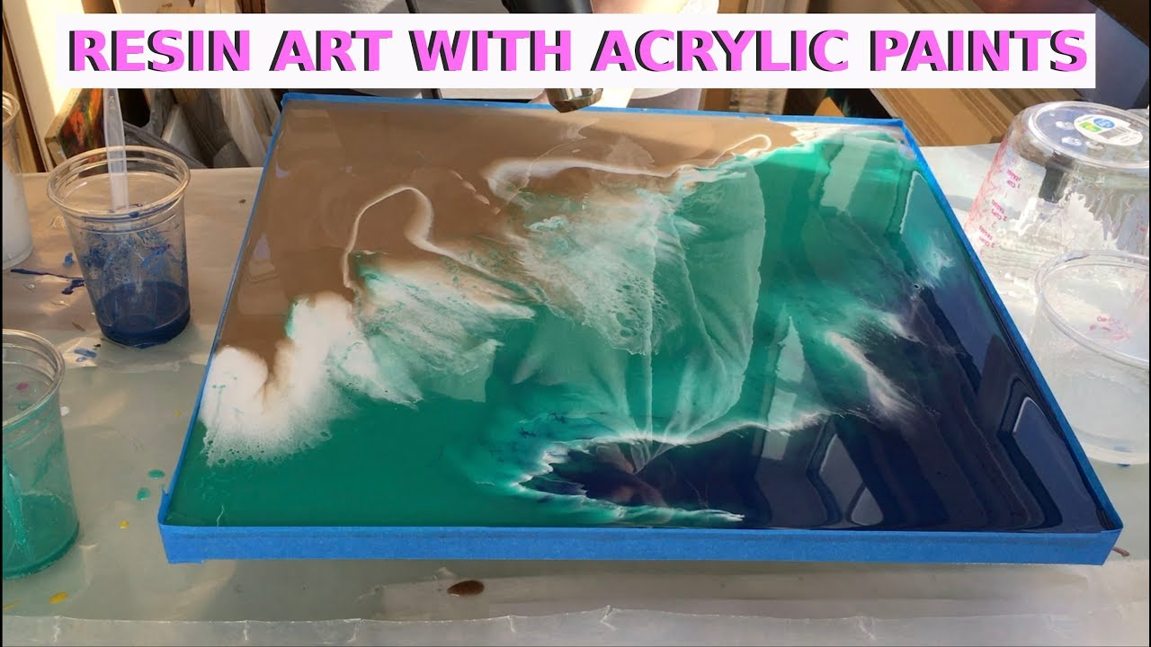 resin art with acrylic paints