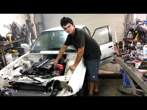 BMW e34 M30 Supercharger eaton m112 test 2 | FunnyCat TV