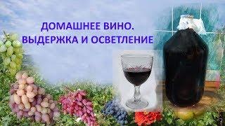 Домашнее вино  Выдержка и осветление
