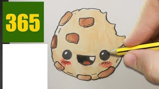 HOW TO DRAW A cookie CUTE, Easy step by step drawing lessons for kids
