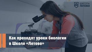 Как проходят уроки биологии в школе «Летово» // Видео