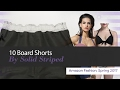 10 Board Shorts By Solid Striped Amazon Fashion, Spring 2017