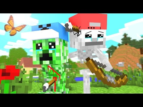 Skeleton Life 2 - Craftronix Minecraft Animation - Видео из Майнкрафт (Minecraft)