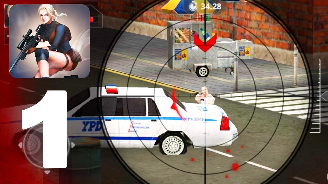 Sniper Girls 3d Gun Shooting Fps Game Gameplay Walkthrough Part 1 Android Gameplay Youtube