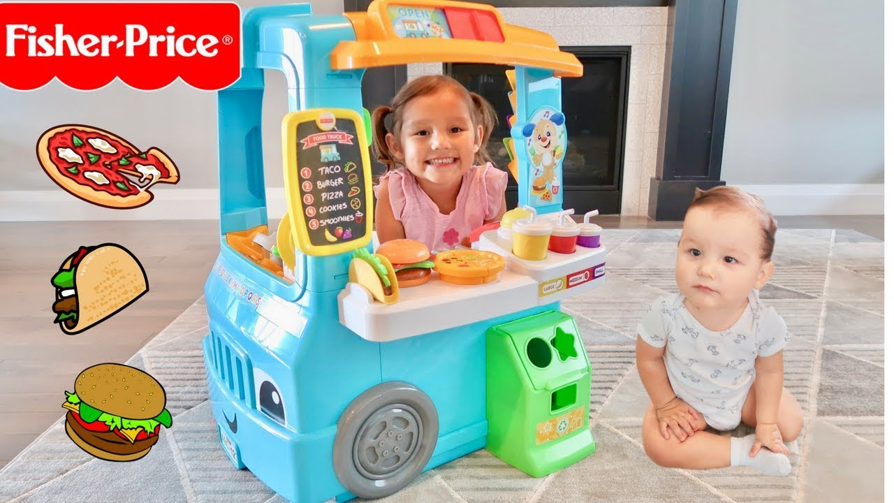 Playskool Toy Food : Servin up fun food truck fisher price youtube