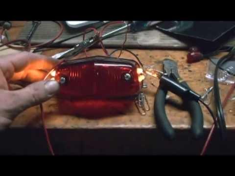 how to make 6 volt led motorcycle lights youtube. Black Bedroom Furniture Sets. Home Design Ideas