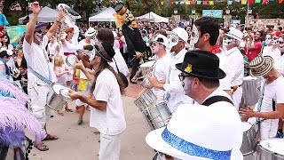 Austin Samba School at La Villita celebrating Dia de los Muertos