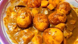 দেশীয় পদ্ধতিতে সুস্বাদু আলু দিয়ে ডিমের তরকারি|ডিম ভুনা রেসেপি|Delicious Egg curry Rep in Asian Style
