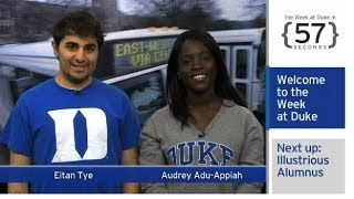 Repeat youtube video The Week at Duke {in 60 Seconds}: Alum Wins Sundance Award; 'Jazz Age' Opens; E.O Wilson Talk