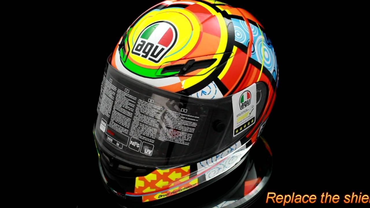 Agv Gp Tech Valentino Rossi Elements Motorcycle Helmet Youtube