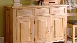 Rivermead Oak 3 Door Sideboard - Pinesolutions