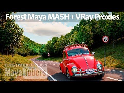 Modelar Un Bosque Realista Con VRay Proxies Y MASH En Autodesk Maya Sin Usar Plugins - MayaTubers