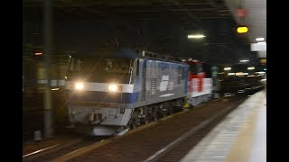 甲種輸送 EF210 156号機+HD300-27号機+ヨ8000形 稲沢駅通過