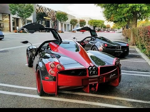 TWO Pagani Huayra's in New York - YouTube