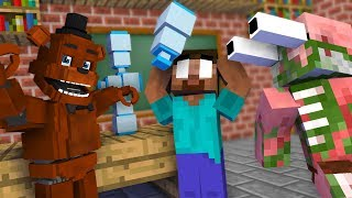 Monster School : FNAF Bottle Flip Challenge - Minecraft Animation