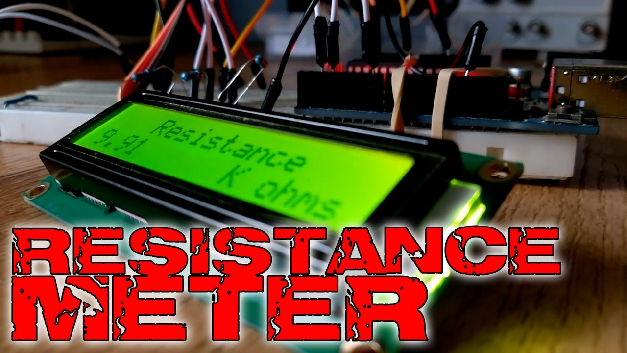 Arduino Resistance Meter And Lcd Screen Youtube Wiring