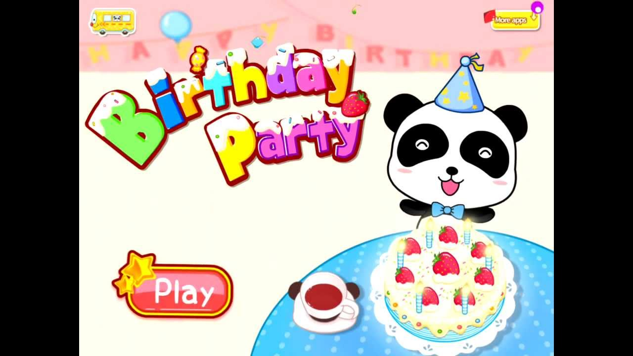 Birthday Party Baby Panda Baby Bus Youtube