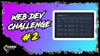 web developer challenge #2 Winner - HTML Table | #CodingPhase