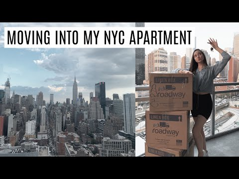 VLOG: MOVING INTO MY NEW NYC APARTMENT || NYC MOVING VLOG || BeautyChickee