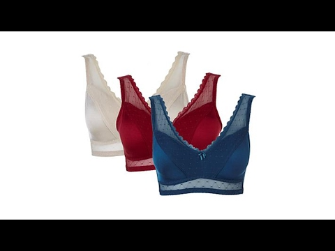 182a84e53f0c4 Rhonda Shear Mesh Dot PinUp Bra 3pack with Removable Pads - YouTube