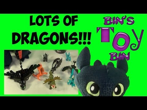 Lots of How to Train Your Dragon 2 Toys! Ionix, Squirt & Float Dragons & More! by Bin's Toy Bin