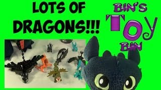 Lots of How to Train Your Dragon 2 Toys! Ionix, Squirt & Float Dragons & More! by Bin