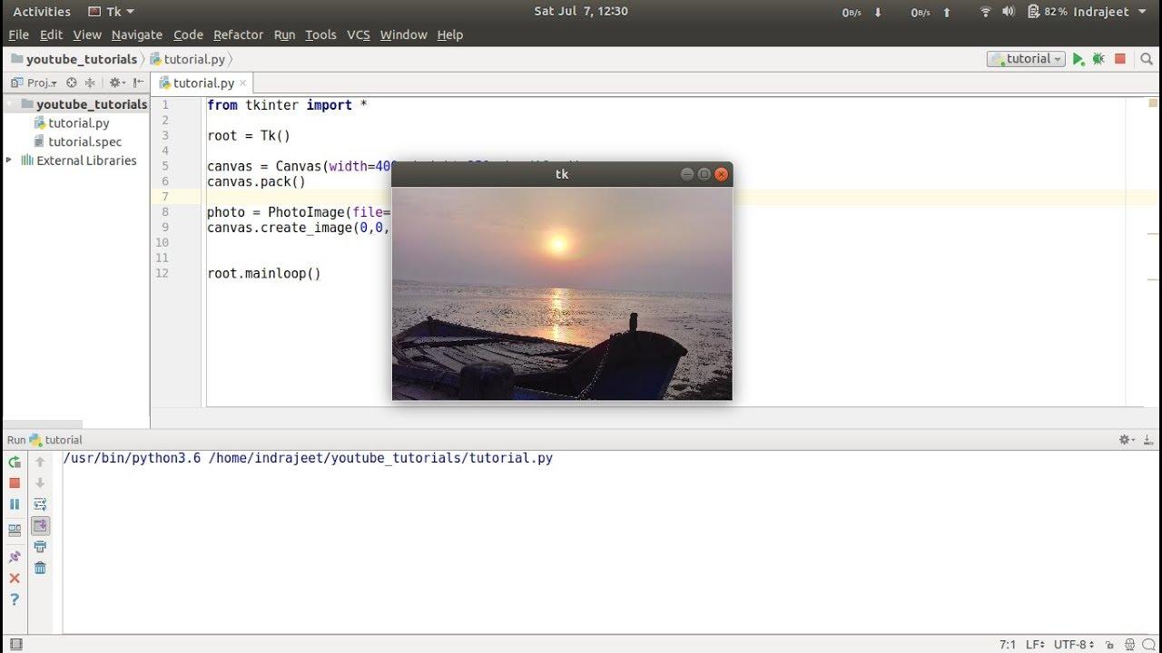 Python GUI Tutorial - 16 - Canvas - create image | Tkinter