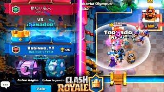 ME TOCA COFRE LEGENDARIO & MÁGICO!!   Clash Royale   Rubinho vlc